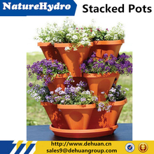Plastic Planter Stack Pot / Stackable Planters / Garden Planter Wholesale