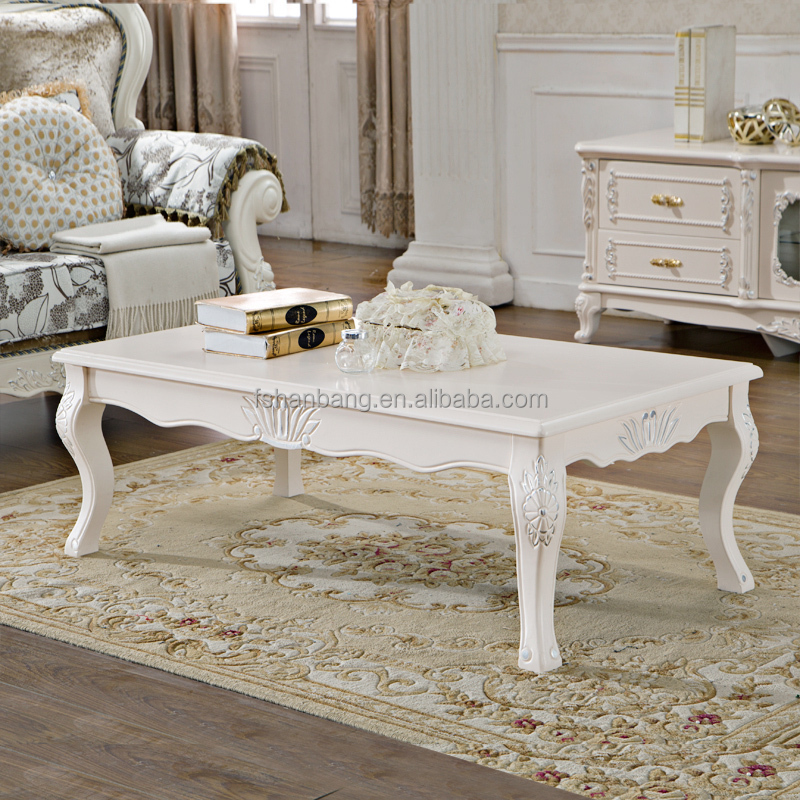 Ivoire blanc sculpt la main en bois baroque fran ais for Deco de table orientale