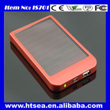 2014 New Products solar Mobile Phone Battery Charger 2600mah power bank charger