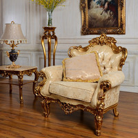 Room classic furniture, antique sofa furniture, European style living room/sitting room1-seat resin fabric lounge sofa