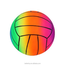 best price PVC toys inflatable color changing custom printed rainbow volleyball beach ball KH6-103