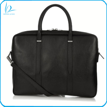 Custom production leisure men genuine leather briefcase bag