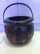 HH-0451 (17cm) Party Halloween novelty children plastic witch cauldron toys set