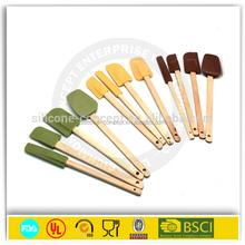 children Kitchen Utensils silicone spatula with wooden handle
