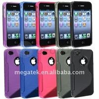 Mobile phone accessories phone case S line TPU case for iphone 4 4s