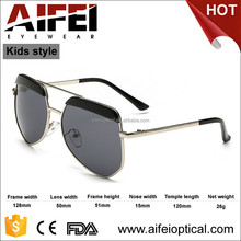 2015 top sales unisex metal kids funny sunglasses with smoke lens