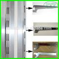 Single/slot duplo canal de alumínio para a placa de mdf