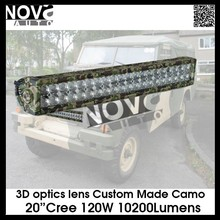 20 Inch Double row LED Light bar offroad use ,Green Camo ,120w led driving light