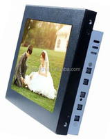 8 inch 16:9 Open frame lcd monitor touch screen with VGA DVI rs232 USB touch monitor