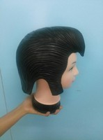 X-MERRY Elvis Presley Mens Fancy Dress Costume Accessories rubber classic sideburns Black color long lasting sturdy wig
