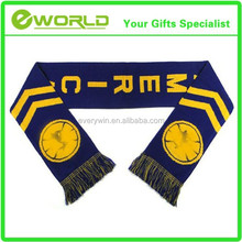 North American Welcomed Logo Custom Promotion Gift Cotton Soccer Scarf