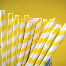 Multi Color Striped Paper Drinking Straws Wedding Birthday Biodegradable Wedding Party Event Favor