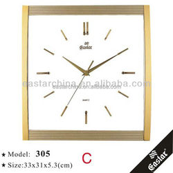 Arched glass wall clock modern designed hotsell clock