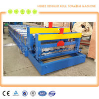 New Design XN-1100 aluminum roofing step tile machine with back water channel