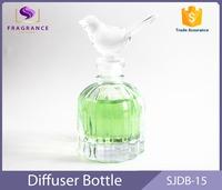luxury 80ml bottle glass perfume with bird cap