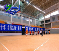 Indoor Basketball Court Sports Vinyl Flooring, PVC Basketball Floor