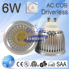 2015 Newest Hot Sale Super Bright Driverless 6W AC COB LED Spotlight 35w halogen equivalent led bulb