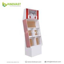 promotion light cardbord floor display for retail
