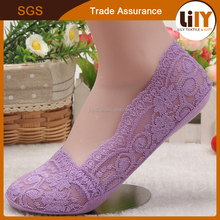wholesale custom young girls knitted lace invisible low cut high quality low price sublimation socks
