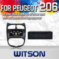 WITSON AUTO RADIO CAR DVD GPS FOR PEUGEOT 206 2010 WITH 1.6GHZ FREQUENCY DVR SUPPORT WIFI APE MUSIC RAM 8GB