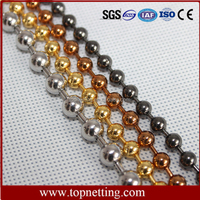 Decorative stainless steel ball chain shower curtain