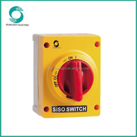 CE,SAA certificate IP66 waterproof box with safety isolating switch