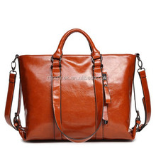 Fashion vintage wax woman hand bag 2015 designer OEM woman bags