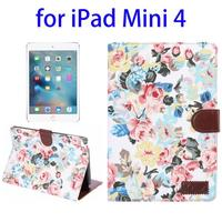 Hot Selling Smart Leather Case for iPad Mini 4 with Sleep / Wake-up Function