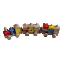 di legno mini blocco treno giocattolo