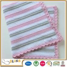Leno weave design 100% cotton cellular thermal blanket for children crochet knit baby blanket