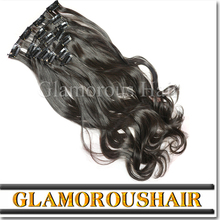 Alibaba china new hair product full cuticle 100% cheap/ natural 120g remy clip in hair extension
