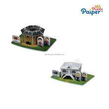 New game small house model puzzle simulation toy
