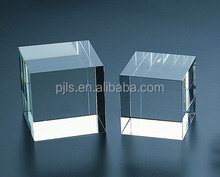 3d laser engraving clear crystal glass blank cube and blocks