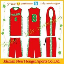 Custom made team logo league basketball top