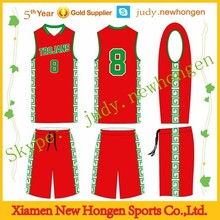 Sublimation League Basketball Top, Red Basketball Jersey Uniform