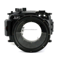 Professional Meikon 40M/130ft waterproof camera housing for Fujifilm X-M1 16-50mm