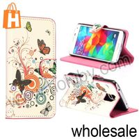 Butterfly and Flowers Pattern Fashion Folio Stand Flip Leather Case for Samsung Galaxy S5 I9600