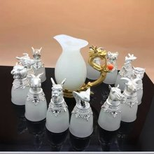 12 Imitation Of The Summer Palace animal Heads wine cup, jade wine cup animal