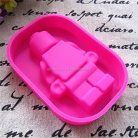 HOT lego super heroes silicone personalized ice cube tray
