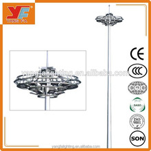 led high mast light stainless steel modern design for airport highway square outdoor lighting fot basketball court
