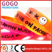 hot sale personalized printed silicone bracelet for promotional gift, High quality silicone bracelets with custom logo design
