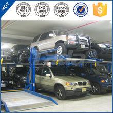 pjs 2 post 2 cars simple vertical mechanical car parking lift