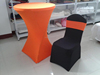 2015 fashion stretch table cover, cheap lycra banquet chair cover, high quality spandex table cover for wedding