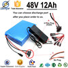2015 Big Capacity rechargeable 1200mah 48 volt lithium electric car battery pack 48v with 2.0A charger +13s 15amp BMS board
