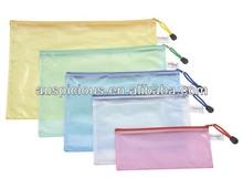 Clear pvc mesh zipper bag zipper pencil pouch