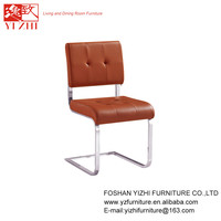 Hot Selling products PVC with Iron Legs Stainless Steel Frame Dining Chair