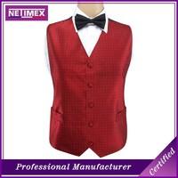 Custom Mens 100% Polyester Waistcoat /Mens Wedding Waistcoat Vest/Mens Wedding Party Vest