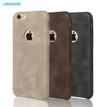 2015 Newest Original USAMS BOB Series PU Leather Case High Quality Cover Case For iPhone 6/6s Back Case MT-4404