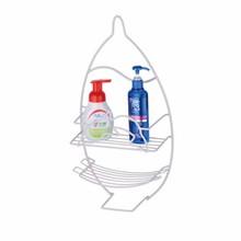 Decorative Wall Mounted 2 Tier Shelf Baskets / Tower Rack / Bathroom Product