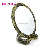Plastic round magnifying bathroom free standing table mirror,cosmetic mirror